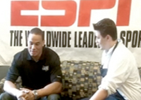Dustin Keller Visits the ESPN Cafeteria